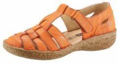 Oranje Loretta klittenbandschoenen met stevige hielkap