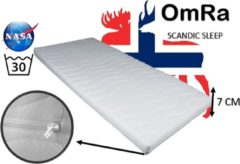 Witte OmRa bedding scandic Topdek Matras - Topper Traagschuim - Nasa - Visco - 70x210cm