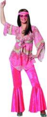 Bruine Partylook Flower power kostuum de luxe voor dame