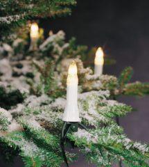 Witte Konstsmide Kerstverlichting buiten - Snoerverlichting Kaarsensnoer 16 lampjes - 9 meter - Warm wit