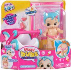 Blauwe Little Live Pets Little Live Bizzy Bubs Peek-A-Boo Baby Swirlee - Speelfigurenset