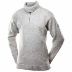 Grijze Devold - Nansen Sweater Zip Neck - Wollen trui maat XS grijs