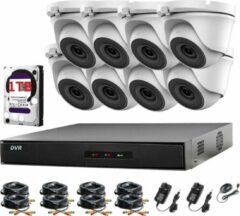 Hikvision 8-kanaals CCTV-kit DVR 1080P en 8 x 2,0 MP Full HD 1080p Witte dome CCTV-camera's IR 20 m Nachtzicht Eenvoudig op afstand bekijken P2P Beveiligingscamerasysteem
