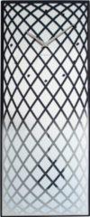 NeXtime Pendula - Klok - Stil Uurwerk - Slinger - Glas - Rechthoekig -70 cm - Zilver