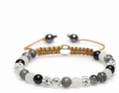 Karma Jewelry Karma Armband Spiral Cherry Blossom White Crystal