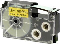 Labeltape Casio XR-12YW1 Tapekleur: Geel Tekstkleur: Zwart 12 mm 8 m