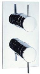 Adora Fusion inbouw douchekraan 2 knoppen verticaal thermostatisch chroom MBFU1000RC