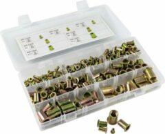 JBM Tools | Assortiment van geribbelde moeren voor klinknagels 235-Delig