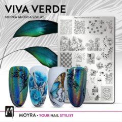 Moyra Nail Art Stamping Plate 82 - Viva Verde