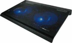 Zwarte Trust - Azul - Laptop Cooling Stand - 2 Ventilatoren - USB-voeding - Blauw Verlicht - max 17.3 inch