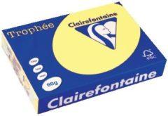 Clairefontaine Trophée Gekleurd papier A4 80 g/m² Citroengeel 500 Vel
