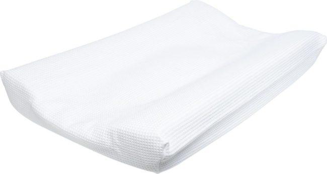 Afbeelding van Witte Cottonbaby Wafel - Aankleedkussenhoes Wafel - Wit