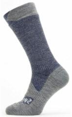 Sealskinz - Waterproof All Weather Mid Length Sock - Fietssokken maat XL, grijs/blauw
