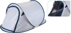 Redcliffs 2 Persoons Pop Up Tent Uv Beschermd - Wit/ Blauw - 2 Persoons