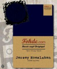 Marineblauwe Fohde Hoeslaken Jersey hoeslaken - 160 X 200 cm - Marine