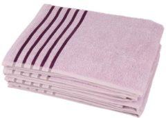 Handtuch flieder Streifen 4er-Set