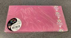 Donkerrode Clairefontaine Papier Luxe enveloppen 60st. Zelfklevend, raspberry kleur, van Pollen Clairefontaine. 11cm x 22cm.