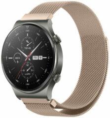 Roze IMoshion Milanees Smartwatch Bandje voor de Huawei Watch GT 2,Huawei Watch GT 2 Pro,Huawei Watch GT 2e Sport 46 mm - Rosé Goud