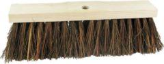 Bruine Streuding - Straatbezem - 30cm natuurvezel ( piasava ) zonder steel Art.Nr 80227