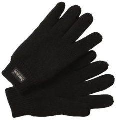 Zwarte Thinsulate Handschoenen Gebreid Heren Zwart Maat 10