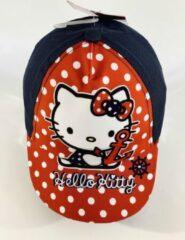 Marineblauwe Hello Kitty babypet marine 48 cm - 6-12 maanden