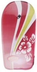 Merkloos / Sans marque Bodyboard - Rood -Surfboardje - Surfboard - Surfbord - 93cm - Inclusief touw met enkelband