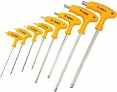 Topex Inbus sleutel set T-grip 8 delig lang