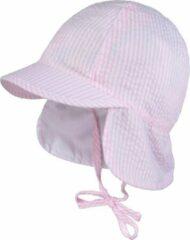 Roze Maximo zonnehoedje met nekbescherming en klep rose streep maat 51