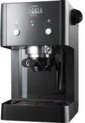 Zwarte Gaggia Gran RI8423/11 Vrijstaand Handmatig Espressomachine 1l Zwart koffiezetapparaat