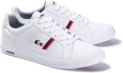 Marineblauwe Lacoste Europa Tri1 SMA Heren Sneakers - Wit - Maat 45