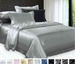 Silkmood Zijden dekbedovertrek,Zilver grijs 140x220cm, 100% zijde,600thread count (22momme)