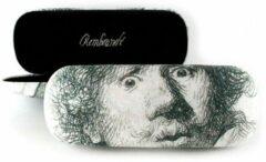 Witte LANZFELD Brillenkoker , Zelfportret met verbaasde blik ,Rembrandt