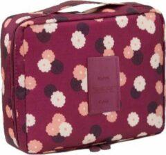 Paarse Travel 'Roses' Toilettas Rozen | Make Up Organizer/Travel Bag/Reistas | Fashion Favorite