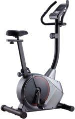 Grijze VidaXL Hometrainer magnetisch met hartslagmeter