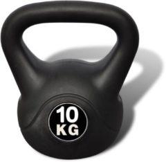 VidaXL Vida XL Kettlebell - 10 kg - Zwart
