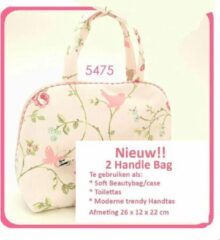 "Vagabond-2 Handle Cosmetic Bag-""Bird Trail"" 5475-Afmeting 26 x 12 x 22 cm."