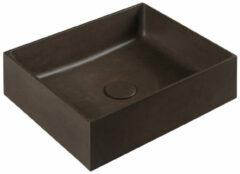 Sapho Formigo betonnen wastafel 47.5x13x36.5cm donkerbruin