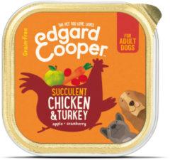 Edgard-Cooper Edgard&Cooper Kuipje Chicken Turkey Adult - Hondenvoer - Kip Kalkoen Appel 150 g Graanvrij