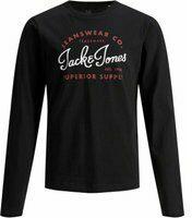 Jack & Jones! Jongens Shirt Lange Mouw - Maat 152 - Zwart - Katoen