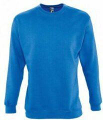 SOLS Heren Supreme Plain Cotton Rich Sweatshirt (Koningsblauw)