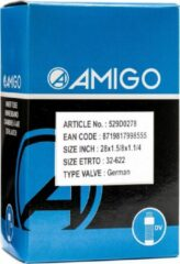 Zwarte AMIGO Binnenband 28 x 1.5/8 x 1 1/4 (32 622) DV 45 mm