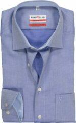 MARVELIS Modern Fit overhemd - blauw structuur (contrast) - Strijkvrij - Boordmaat: 46