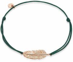 Goudkleurige Glanzstücke München Zilveren armband Sterling zilver Textiel