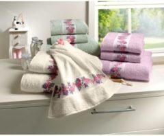 Handtuch 'Blumenranke' Dyckhoff minze