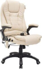 Bürosessel / Chefsessel mit Massage- und Wärmefunktion HOMCOM creme