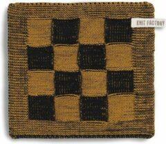 Knit Factory Pannenlap Block - Zwart/Oker