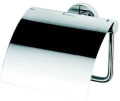 Geesa Nemox closetrolhouder met klep 128x127x60mm, chroom