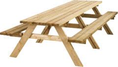 Bruine Woodvision - Picknicktafel - 12-14 personen - Vurenhout