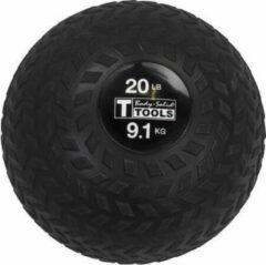 Zwarte Body-Solid Premium Tire Tread Slam Ball - 9,1 kg