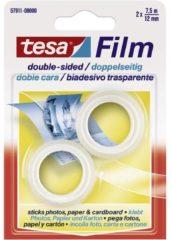 Tesa 57911 57911 Dubbelzijdige tape tesafilm Transparant (l x b) 7.5 m x 12 mm 2 rol/rollen